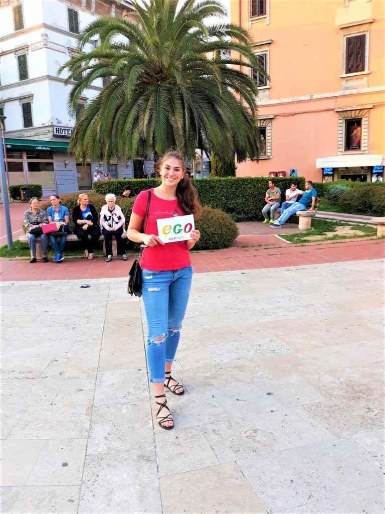 Фото-отзыв от девочки хостес из Италии