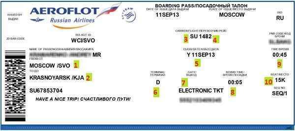 как выглядит зарегистрированный онлайн авиабилет?